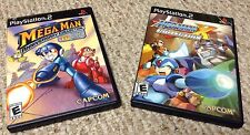 PS2 MEGA MAN Anniversary Collection & MEGA MAN X Collection 2 game lot Complete