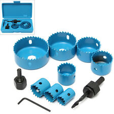 11PC HOLE SAW CUTTING BROCAS SET KIT 19-64MM CORTE MADERA  METAL ALLOYS + CAJA