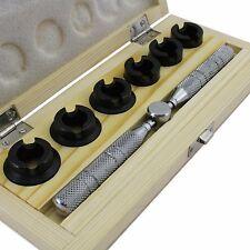Reloj Rolex en caja caso trasero abridor Conjunto de 6 muere muere tamaño 18.5mm - herramienta 29.50mm