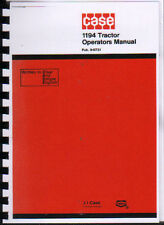 """CASE """"1194"""" Tractor Operator Instruction Manual"""