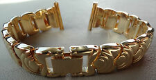 ROWI Germany 18mm Gold Tone Bracelet Womens Open Ends Crimp Watch Band $101.95