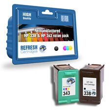 Basic Valuepack - 2 Remanufactured HP 338 and HP 343 Ink Cartridges (SD449EE)