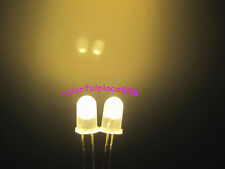 1000pcs, 5mm Warm White Diffused Bright Round LED Leds Light Free Shipping