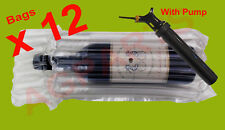 INFLATABLE AIR PACKAGING  BUBBLE PACK  WRAP BAG FOR WINE BOTTLE X 12 WITH PUMP