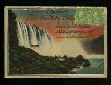 Postcard Folder New York Canada Niagara Falls Whirlpool Rapids Bridge