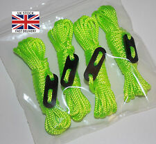 FLUORESCENT GREEN Guy Line Ropes x4 PACK Paracord Tent Camping greeny yellow