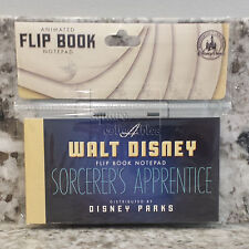 Disney Parks Sorcerer's Apprentice Mickey Flip Book Animation 5 x 3 in Notepad