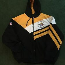 Mitchell & Ness Pittsburgh Steelers Hooded Jacket Warm 2XL XXL New NWT