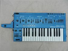 Vintage Roland SH-101 SH101 Analog Synthesizer with Mod Grip Rare Blue