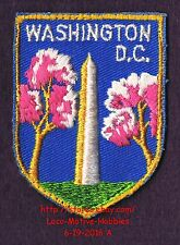 LMH PATCH Badge  WASHINGTON MONUMENT Memorail  CHERRY BLOSSOMS Tree DC Pink used