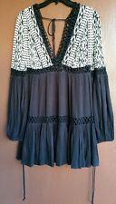 NW Free People Dusk Till Dawn Mini Dress 8 Retail $148.00