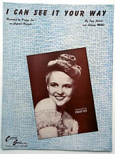 PEGGY LEE Sheet Music I CAN SEE IT YOUR WAY Capitol Publ. 40's POP VOCAL