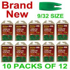 NEW 120 ALLEN PERFECT ARROW SHAFT NOCKS,ARCHERY NOCK,9/32 SIZE,ASST. COLORS
