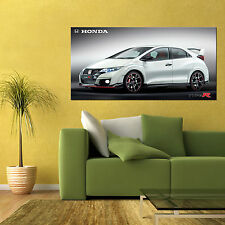 2015 HONDA CIVIC TYPE-R V-TEC SPORTS CAR LARGE AUTOMOTIVE HD POSTER 24x48 in