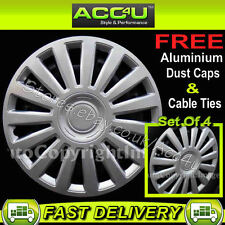 "14"" Audi VW Style Car Set of 4 Wheel Trims Hub Cover +F"
