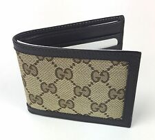 AUTHENTIC New Gucci Men's GG Canvas Small Wallet #233157, NWT
