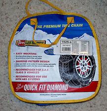LES SCHWAB TIRE CHAINS DIAMOND FIT 1525-s - NEW