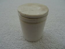 Antique ceramic medical / pharmacy ointment pot with lid. Plain. 5.5cm high.