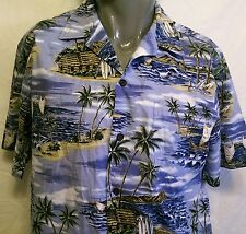 Styled by RJC Ltd. Outrigger Surf Shack Hawaiian Shirt Size Large Surfing Canoe