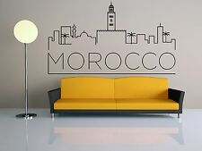 Wall Vinyl Sticker Decal Skyline Horizon Panorama City Morocco Africa F1811