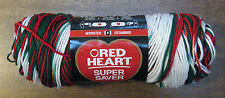 New Red Heart Christmas Super Saver Yarn 5 oz 236 Yd Buy By the Skein Free Ship!