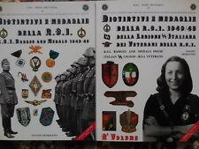 2 cataloghi sulle medaglie e distintivi della Repubblica Sociale Italiana RSI