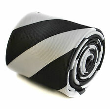 Black & White Striped Mens Tie FT1613 Dundee United Football Club FC away shirt