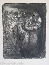 STEINLEN THEOPHILE LITHOGRAPHIE 1916 SIGNÉE NUM/400 SIGNED HANDNUMB LITHOGRAPH