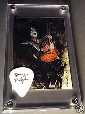LOOK - KISS Tommy Thayer promo guitar pick / card display #80 - Great Gift!!!