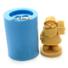 3D Christmas Santa Silicone Soap Moulds Candle Making Tools DIY Chocolate Mold