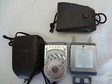 Sekonic Exposure Meter L-8 with Case From Japan Excellent Condition 871