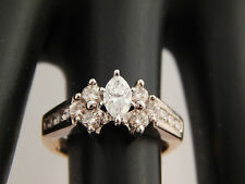 Lovely Marquise G/SI Quality Diamond Engagement Ring Large .75 tcw 14k YG Estate