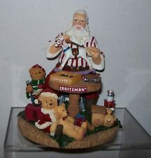 CRAFTSMAN CHRISTMAS SANTA AND HIS LITTLE BEAR HELPERS TABLEPIECE NOS
