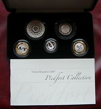 2007 silver proof piedfort five coin collection