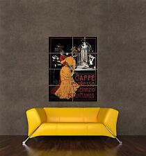 GIANT PRINT POSTER VINTAGE AD COFFEE ESPRESSO INSTANT SERVICE EDWARDIAN PDC179