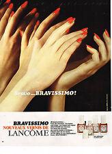 PUBLICITE ADVERTISING 024   1971   LANCOME  cosmétiques vernis à ongles BRAVISSI