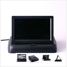 "Foldable 2-channel 4.3"" LCD TFT Monitor Car RearView Reversing Parking Display"