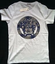 NEW Versace_HBA Logo Medusa Print 2016 Italy  T-Shirt White Men's Cotton Size M