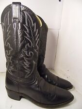 Dan Post Men's Black Milwaukee R Toe Western Boots DP2110R Size 8.5 EW