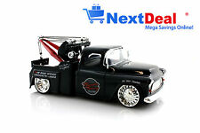1955 Chevrolet Stepside Tow Truck Black Jada 1:24 scale Diecast Model Car