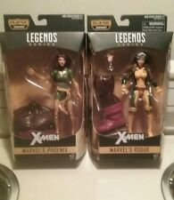 "NEW/SEALED!! 2016 MARVEL LEGENDS 6"" ROGUE AND PHOENIX JUGGERNAUT/X-MEN BAF LOT"