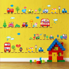 Animals Cars Trucks Bus Wall Decal Sticker Removable Vinyl Mural BABY ROOM Decor