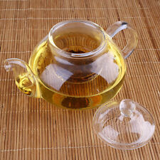 Clear Glass Teapot With Infuser Coffee Tea Leaf Herbal Pot Bottle 400ML