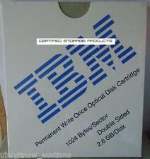 NEW IBM 99F8517 Write Once MO 2.6GB Optical Disk 1024 b/s Permanent Sony