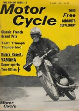 1966 2 JUNE  No 3285  D52688  Motor Cycle Magazine  TEST TRIUMPH THUNDERBIRD