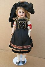 ANTIQUE FRENCH SFBJ PARIS BISQUE COMPO DOLL IN ORIGINAL CLOTHES 16""