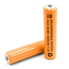 2pcs AAA LR3 R03 1800mAh Ni-MH Rechargeable Battery Orange 3A Cell Power 1.2V