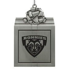St. Bonaventure Bonnies -Pewter Christmas Holiday Ornament-Silver