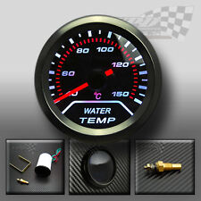 UNIVERSAL WHITE LED WATER TEMPRATURE GAUGE SMOKED DIALS FACE 52mm / 2""