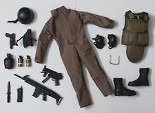 "1 x New Set of 1/6 Police Soldiers SWAT Uniform Gun & Assy For 12"" Action Figure"